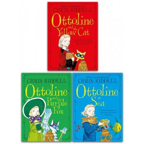 Chris Riddell Ottoline Collection 3 Books Set - Ottoline At Sea Ottoline And The Yellow Cat Ottoli.. - books 4 people