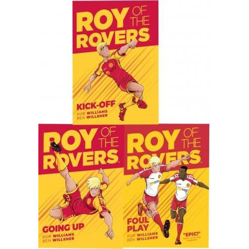 Roy Of The Rovers Graphic Novel 3 Books Collection Set Kick-off Foul Play Going Up - books 4 people
