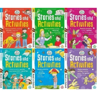 Biff Chip And Kipper Phonics Stories And Activities Pack 6 Books Collection Stage 1 To 3 - Age 3 - books 4 people