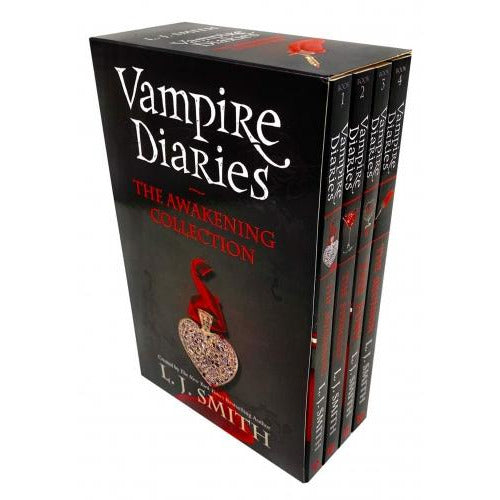 The Vampire Diaries Series 1 Collection 4 Books Box Set By L J Smith - The Awakening The Struggle .. - books 4 people