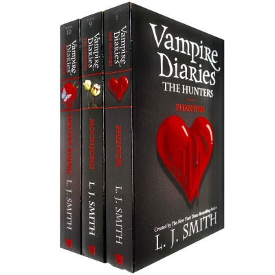 Vampire Diaries The Hunters Collection 3 Books Set By L J Smith - Book 8 To 10 - Phantom Moonsong .. - books 4 people