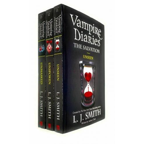 Vampire Diaries The Salvation Series Collection 3 Books Set By L J Smith - Book 11 To 13 - Unseen .. - books 4 people