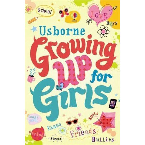 Usborne Growing Up For Girls Schools Bullies Friends Body Image Boys Spots - books 4 people