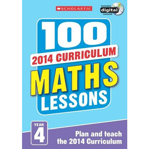 100 Maths Lessons Year 4 - 2014 National Curriculum Plan And Teach Study Guide - books 4 people