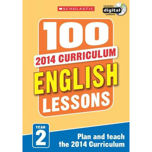 100 English Lessons Year 2 - 2014 National Curriculum Plan And Teach Study Guide - books 4 people