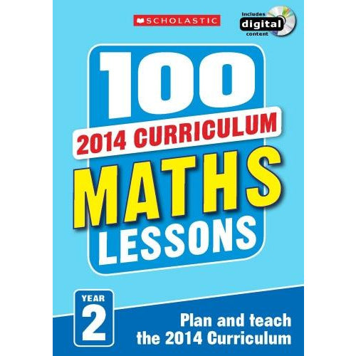 100 Maths Lessons Year 2 - 2014 National Curriculum Plan And Teach Study Guide - books 4 people