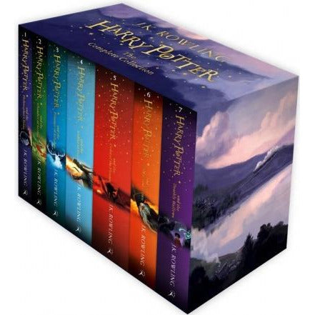 The Complete Harry Potter 7 Books Collection Boxed Gift Set New J K Rowling - books 4 people