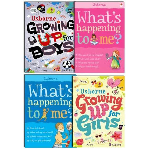 Usborne Growing Up For Girls And Boy Whats Happening To Me 4 Books Collection Set - books 4 people