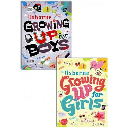 Usborne Growing Up For Girls And Boys Collection 2 Books Set Teens Young Adults - books 4 people