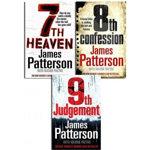 James Patterson Collection 3 Books Set Pack Womens Murder Club 9th Judgement - books 4 people