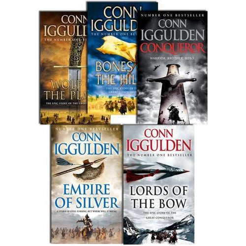 Conqueror Series Collection 5 Books Set By Conn Iggulden Wolf Of The Plains  Lords Of The Bow Bone.. - books 4 people