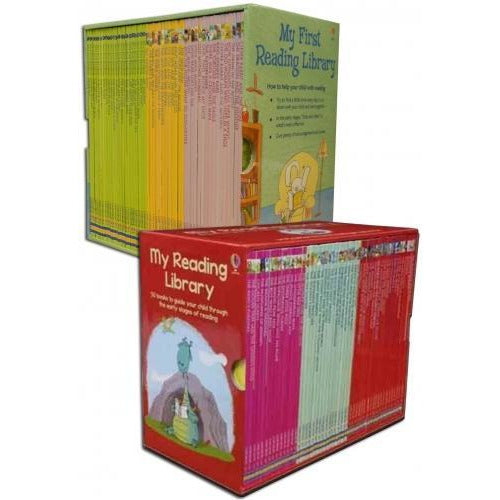 Usborne Very First Reading Library 100 Books Collection Set School Reading Pack - books 4 people