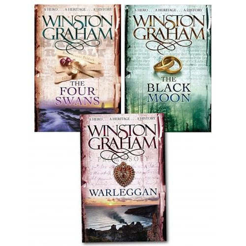 Winston Graham Poldark Series Trilogy Books 4 5 6 Collection 3 Books Set - books 4 people