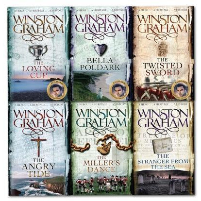Poldark Books By Winston Graham Poldark Series 6 Books Collection Set 7-12 - books 4 people