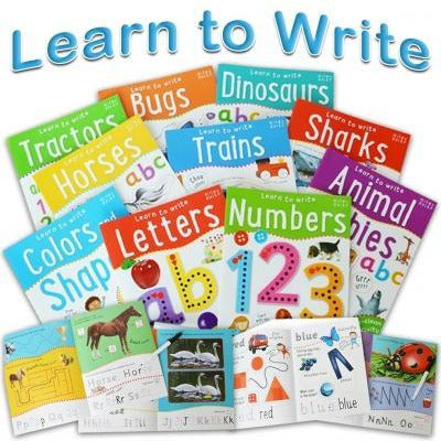 Wipe Clean Learn To Write 10 Books Collection Set For Children Letters Numbers - books 4 people