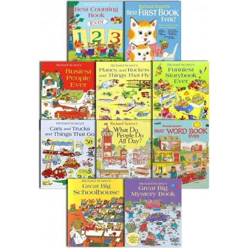 Richard Scarrys Best Collection Ever 10 Books Set - books 4 people