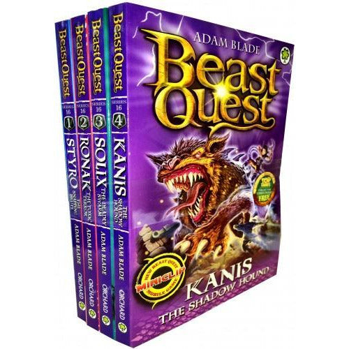 Beast Quest Series 16 The Siege Of Gwildor Collection 4 Books Collection Pack Set - books 4 people
