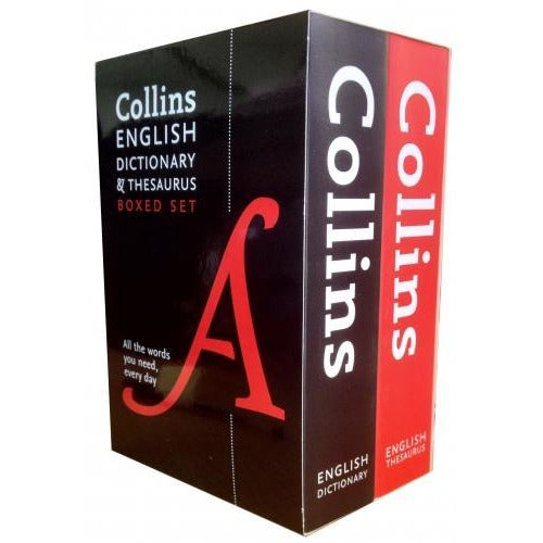 Collins Children English Dictionary And Thesaurus Collection 2 Book Box Set Pack - books 4 people