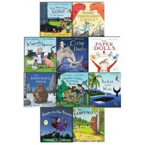 Julia Donaldson Picture Book Collection 10 Books Set - books 4 people
