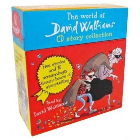 The World Of David Walliams 5 Stories In 14 Audio Cds Gift Box Set - books 4 people