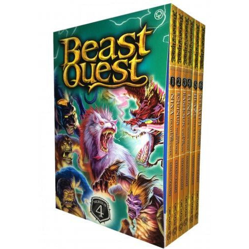 Beast Quest Series 4 - 6 Books Collection Set By Adam Blade - books 4 people