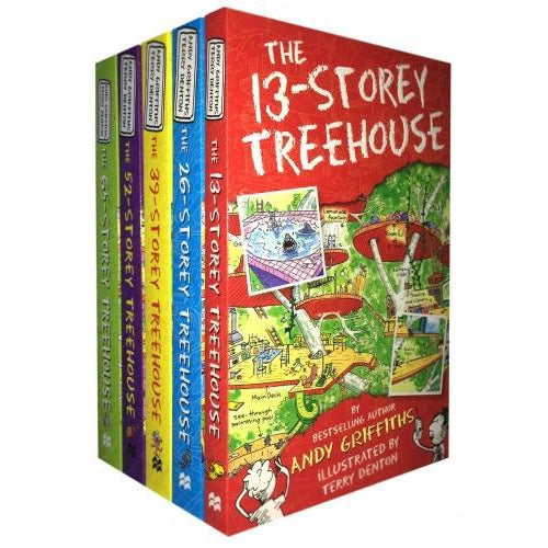 The 13-storey Treehouse Collection Andy Griffiths And Terry Denton 5 Books Set - books 4 people