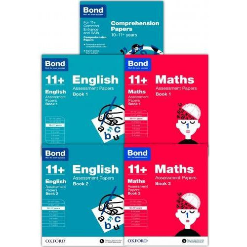 Bond Books Bond 11 Plus Assessment Papers English Maths And Comprehension 10-11 Year 5 Books Colle.. - books 4 people