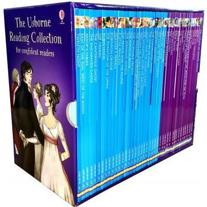 Usborne Reading Collection 40 Books Box Set Series Confident Readers - books 4 people