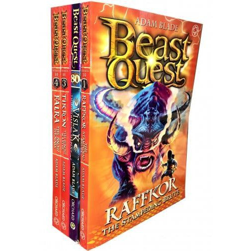 Beast Quest Series 14 The Cursed Dragon Collection 4 Books Collection Pack Set - books 4 people