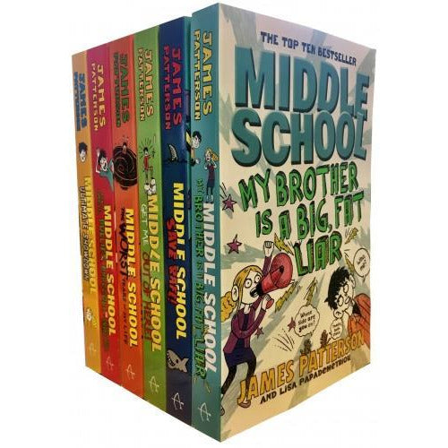 James Patterson Middle School 6 Books Collection Pack Set - books 4 people