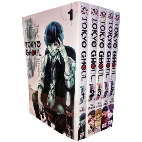 Tokyo Ghoul Volume 1-5 Collection 5 Books Set Series-1 - books 4 people