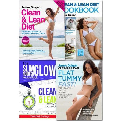 Clean And Lean Diet Cookbook Collection James Duigan 4 Books Set - books 4 people