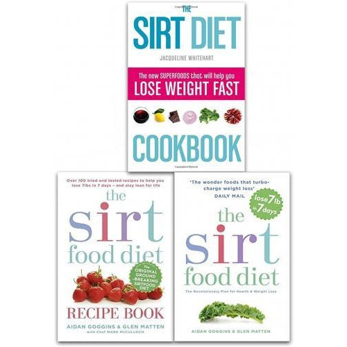 Sirtfood Diet Collection 3 Books Set The Sirt Food Diet The Sirtfood Diet Recipe Book The Sirt Diet Cookbook - books 4 people
