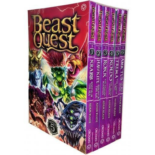 Beast Quest Series 5 The Shade Of Death 6 Books Collection Box Set Books 25 To 30 By Adam Blade - books 4 people