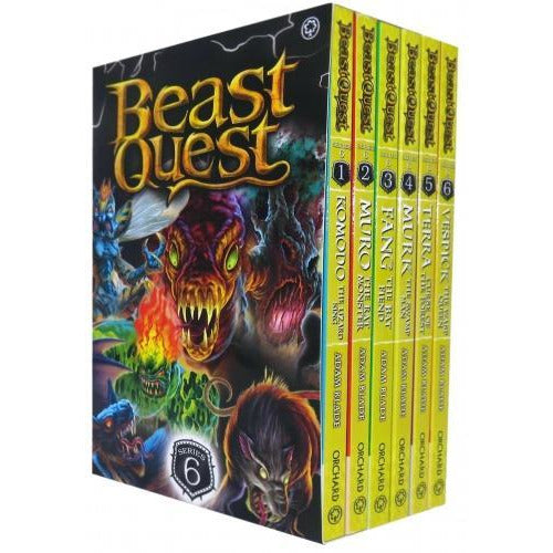 Beast Quest Series 6 The World Of Chaos 6 Books Collection Box Set - Books 31-36 By Adam Blade - books 4 people