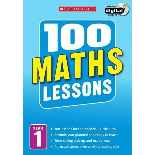 100 Maths Lessons Year 1 - 2014 National Curriculum Plan And Teach Study Guide - books 4 people