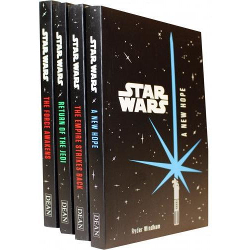 Star Wars Junior Novel Collection 4 Books Set By Ryder Windham A New Hope The Empire Strikes Back .. - books 4 people