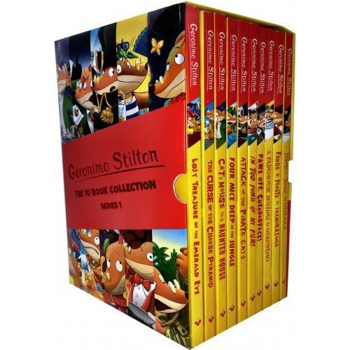 Geronimo Stilton Series 1 Collection 10 Books Box Set - books 4 people