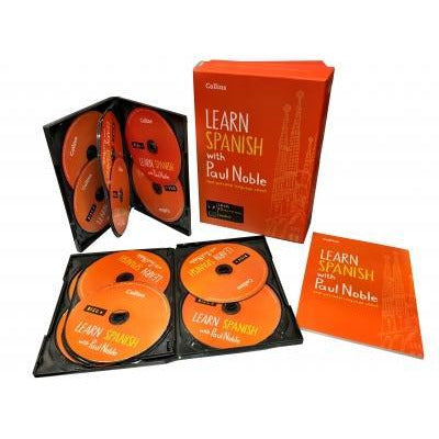 Learn Spanish With Paul Noble Collins 12 Cds Booklet Collection Box Set - books 4 people