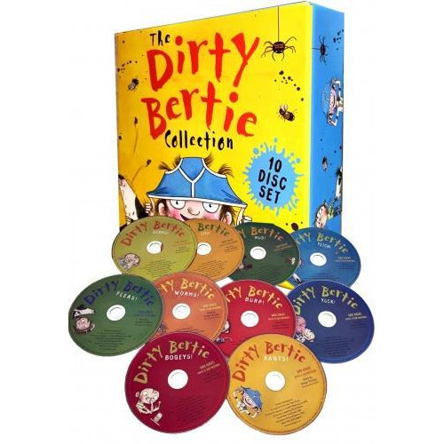 The Dirty Bertie Audio Collection 10 Cds Box Set Pack By David Roberts And Alan Macdonald - books 4 people