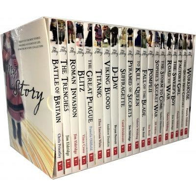My Story Collection 20 Books Box Set Pack Road To War Factory Girl Pompeii The Sweeps Boy Titanic .. - books 4 people