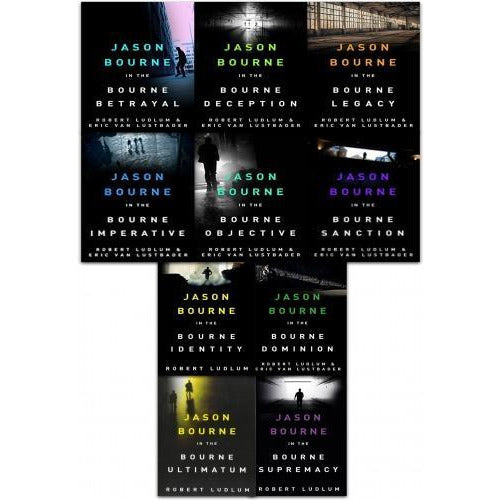 The Bourne Series Collection Robert Ludlum 10 Books Set - books 4 people