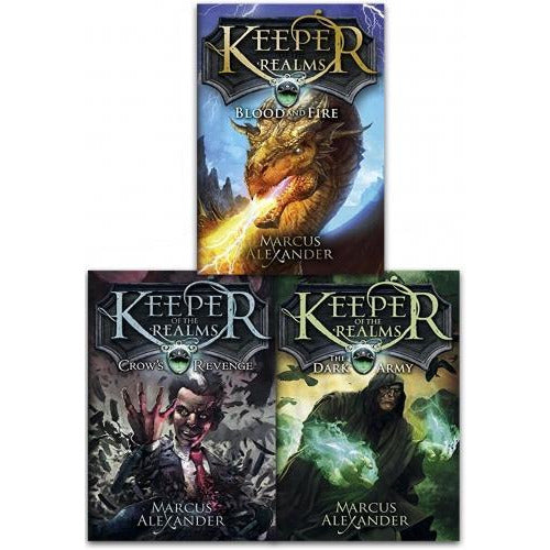 Keeper Of The Realms Trilogy 3 Books Collection Set By Marcus Alexander Crows Revenge The Dark Arm.. - books 4 people