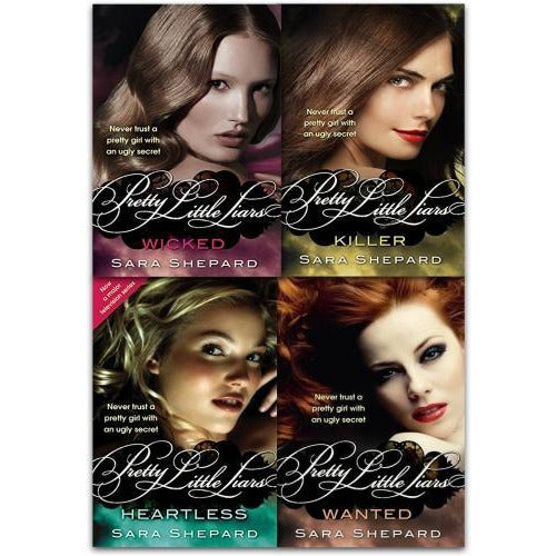 Wicked Pretty Little Liars Series 2 Collection Sara Shepard 4 Books Set New Wicked Killer Heartles.. - books 4 people