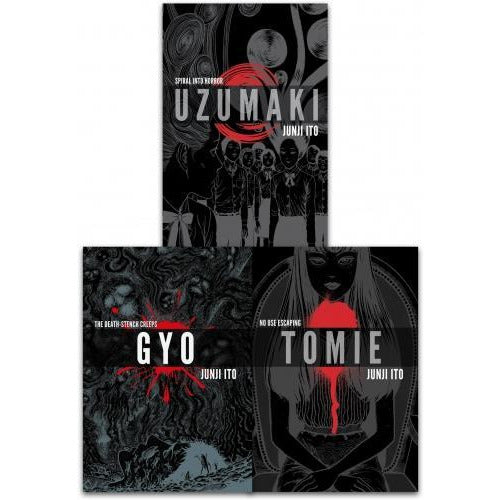 Junji Ito Collection 3 Books Set Deluxe Edition Uzumaki Gyo Tomie - books 4 people