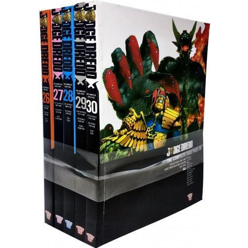 Judge Dredd Complete Case Files Volume 26-30 Collection 5 Books Set Series 6 By John Wagner - books 4 people