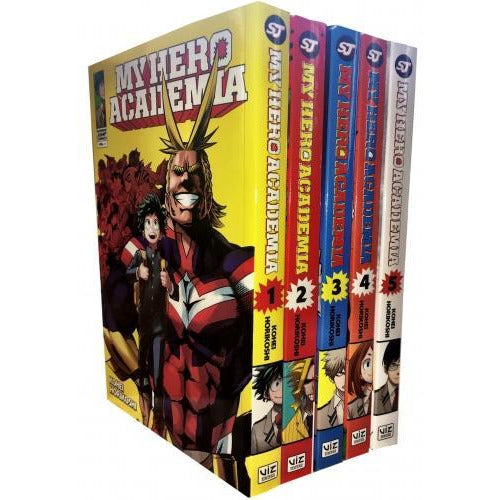 My Hero Academia Volume 1-5 Collection 5 Books Set Series 1 - books 4 people