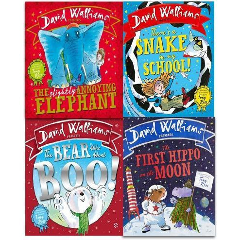 Deluxe Hardback David Walliams Children Picture Book Collection 4 Books Illustrated By Tony Ross - books 4 people