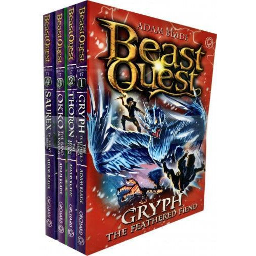 Beast Quest Series 17 The Broken Star 4 Books Collection Set Pack By Adam Blade - books 4 people