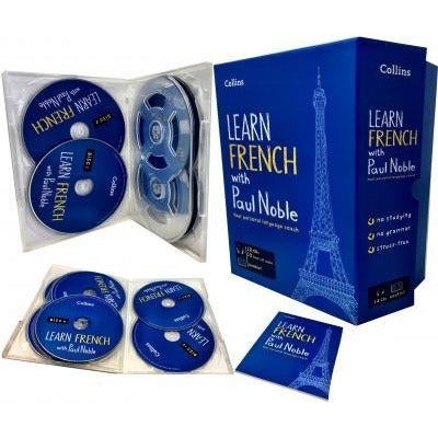 Learn French With Paul Noble Collins 12 Cds Booklet Dvd Collection Box Set - books 4 people